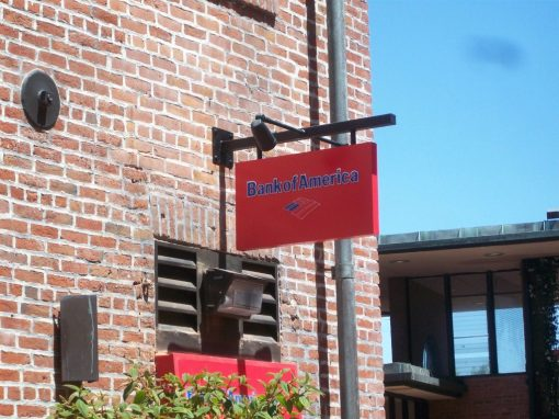 Bank of America Blade Sign