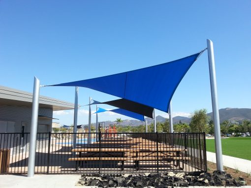 Tension Fabric Shade High Tech Elementary School